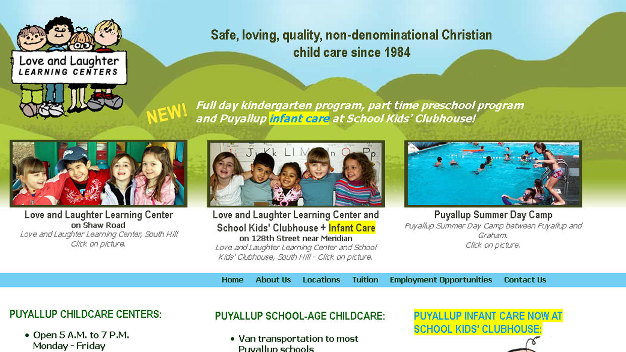 Love and Laughter Learning Centers Static Website