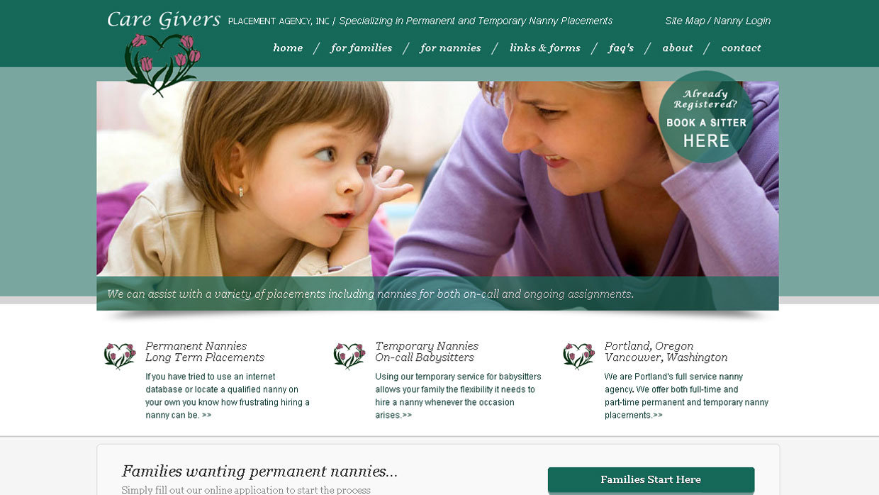 Caregiver's Placement Agency Static Site